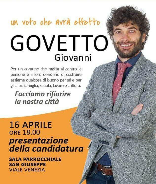 FOTO GOVETTO GIOVANNI Campagna elettorale